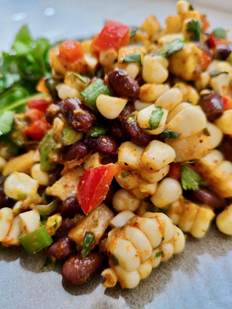 Jicama Corn Salad Vegan