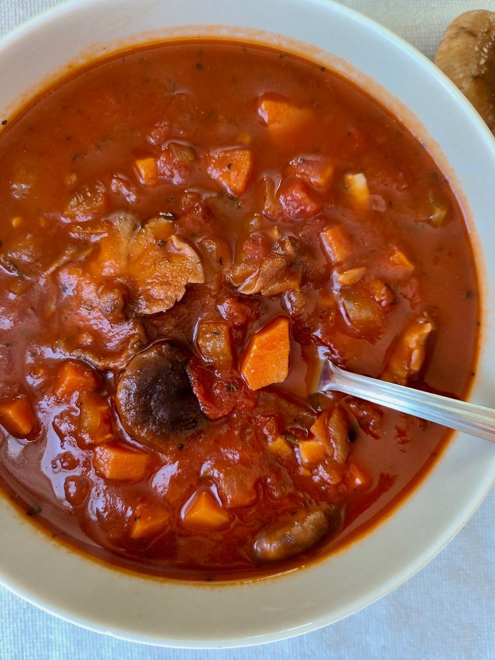 Shiitake Mushroom Soup Vegetarian