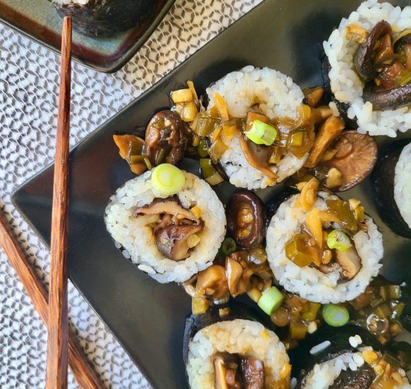 Vegan Sushi Shiitake