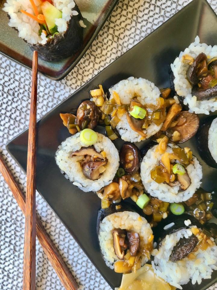 Homemade Mushroom Sushi Vegan