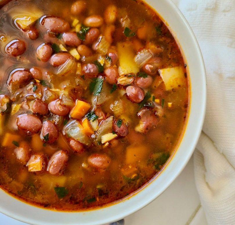 Vegan Smoky Bean Soup with Potatoes