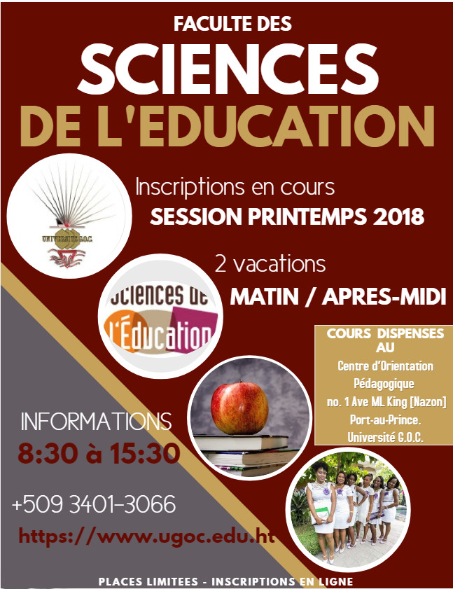 Sciences education Universite GOC