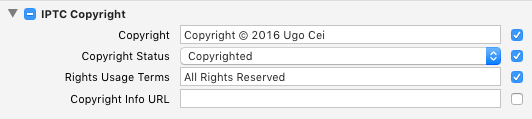 IPTC Settings Dialog in Adobe Lightroom