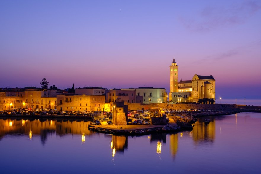 Trani Harbour at twilight
