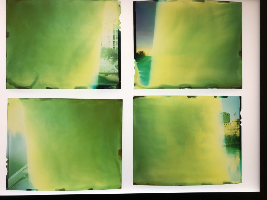 Ruined 4x5 color slides