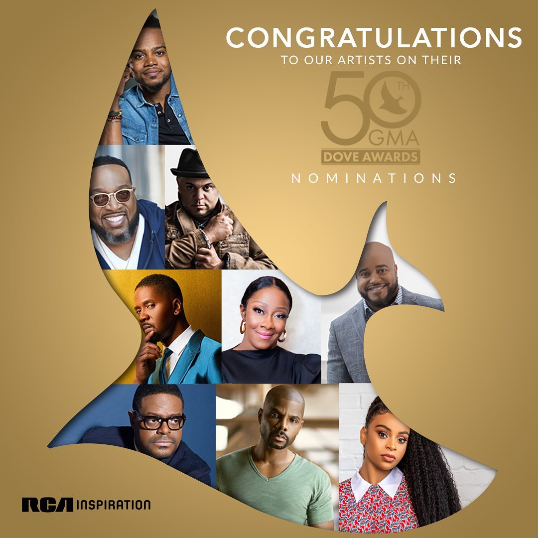 RCA Inspiration Celebrates 15 Nominations for the 2019 GMA Dove Award