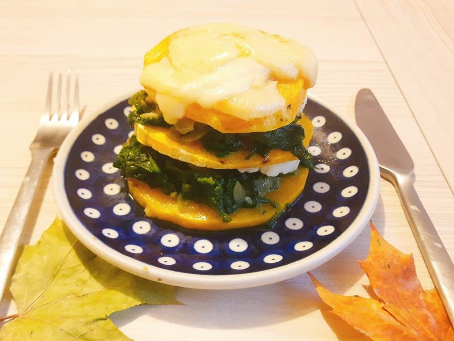 Lasagne z dyni piżmowej ze szpinakiem