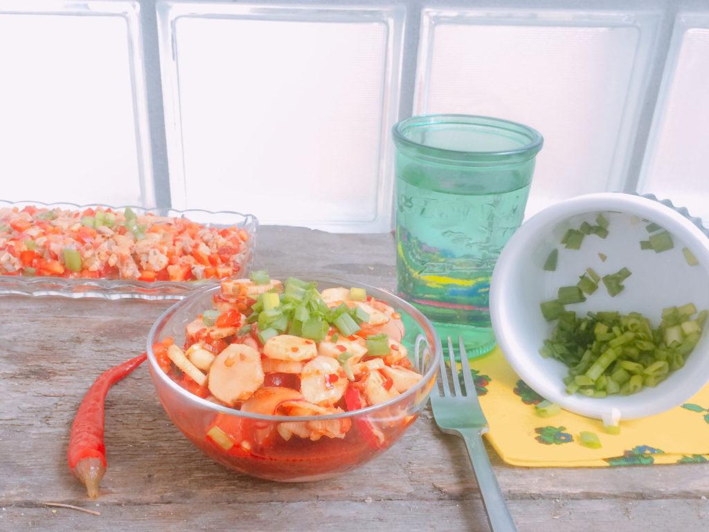 surówkę z topinamburu - kimchi z topinamburem
