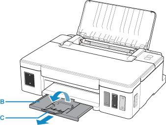 Canon : Inkjet 手冊 : G1010 series : 載入一般紙張/相片紙
