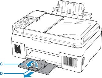 Canon : Manuais Inkjet : G4010 series : Colocando o Papel
