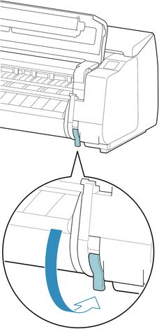 Canon:imagePROGRAF Manuals:PRO-4000:Removing Sheets