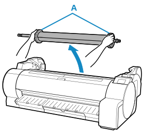 Canon : imagePROGRAF Manuals : TA-20 : Loading Sheets in