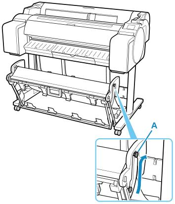 Canon : imagePROGRAF Manuals : TM-5300 : Using the Basket