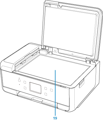 Canon : PIXMA Manuals : TR7500 series : Front View