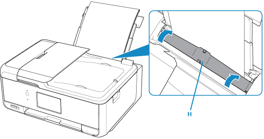 Canon : PIXMA 手冊 : TR8500 series : 在後端托盤中載入紙張