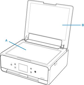 Canon : PIXMA-handleidingen : TS6100 series : De glasplaat
