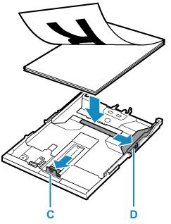 Canon : PIXMA 手冊 : TS8200 series : 在紙匣中載入紙張