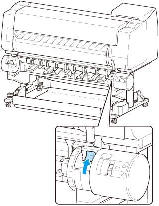 キヤノン:imagePROGRAF マニュアル|TX-3000|ロール紙をプリンター下段のロールユニット(オプション