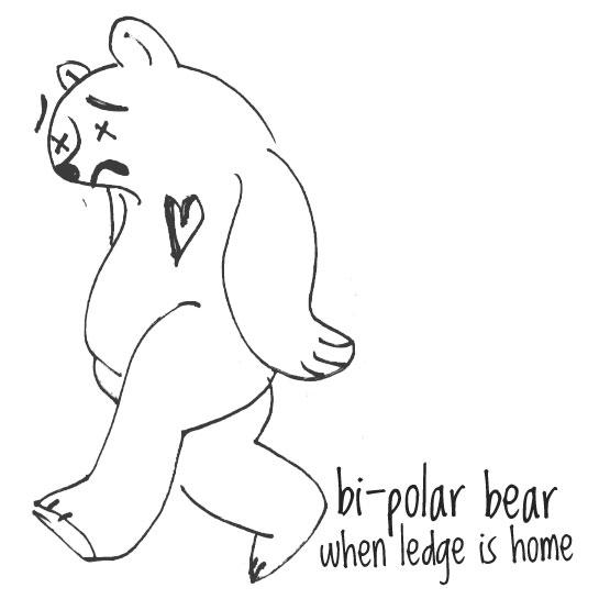 "Bi-Polar Bear - ""Ledge"" (w/ Junk Science, Blue Sky Black Death)"