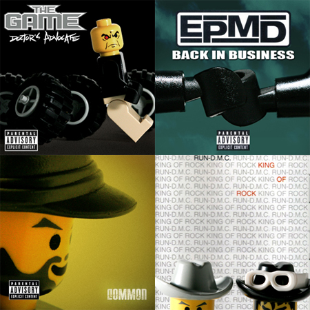 Hip Hop Album Covers Recreated in LEGO