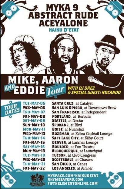 Haiku D'Etat - Mike, Aaron, & Eddie - Tour