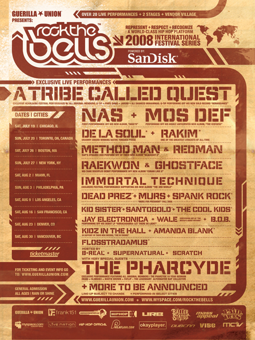 Rock the Bells 2008 Tour