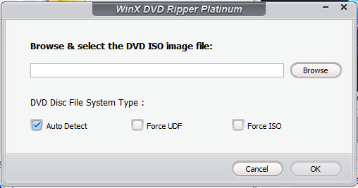 Clone DVD disc to ISO image