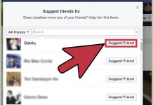 How to suggest a friend on facebook