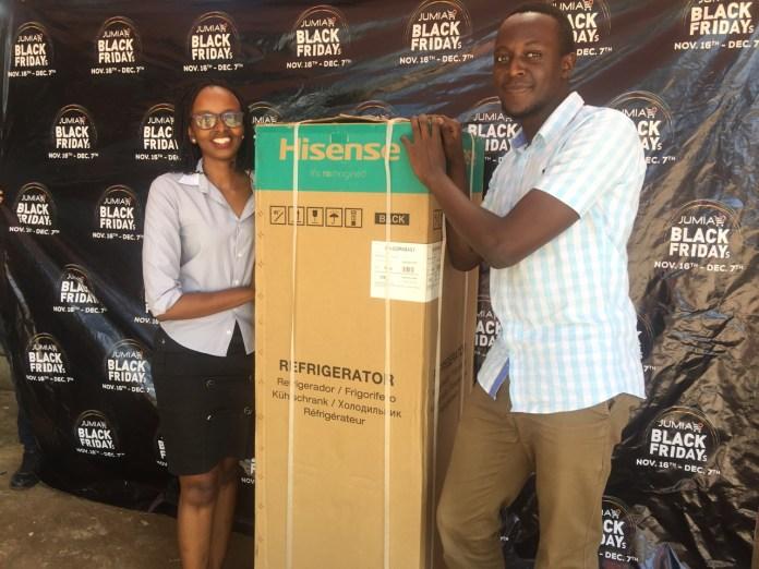 Treasure Hunt Meet Luis Paul, winner of the Hisense 220 litre double door fridge at a giveaway price of 45,000 UGX (99% off).