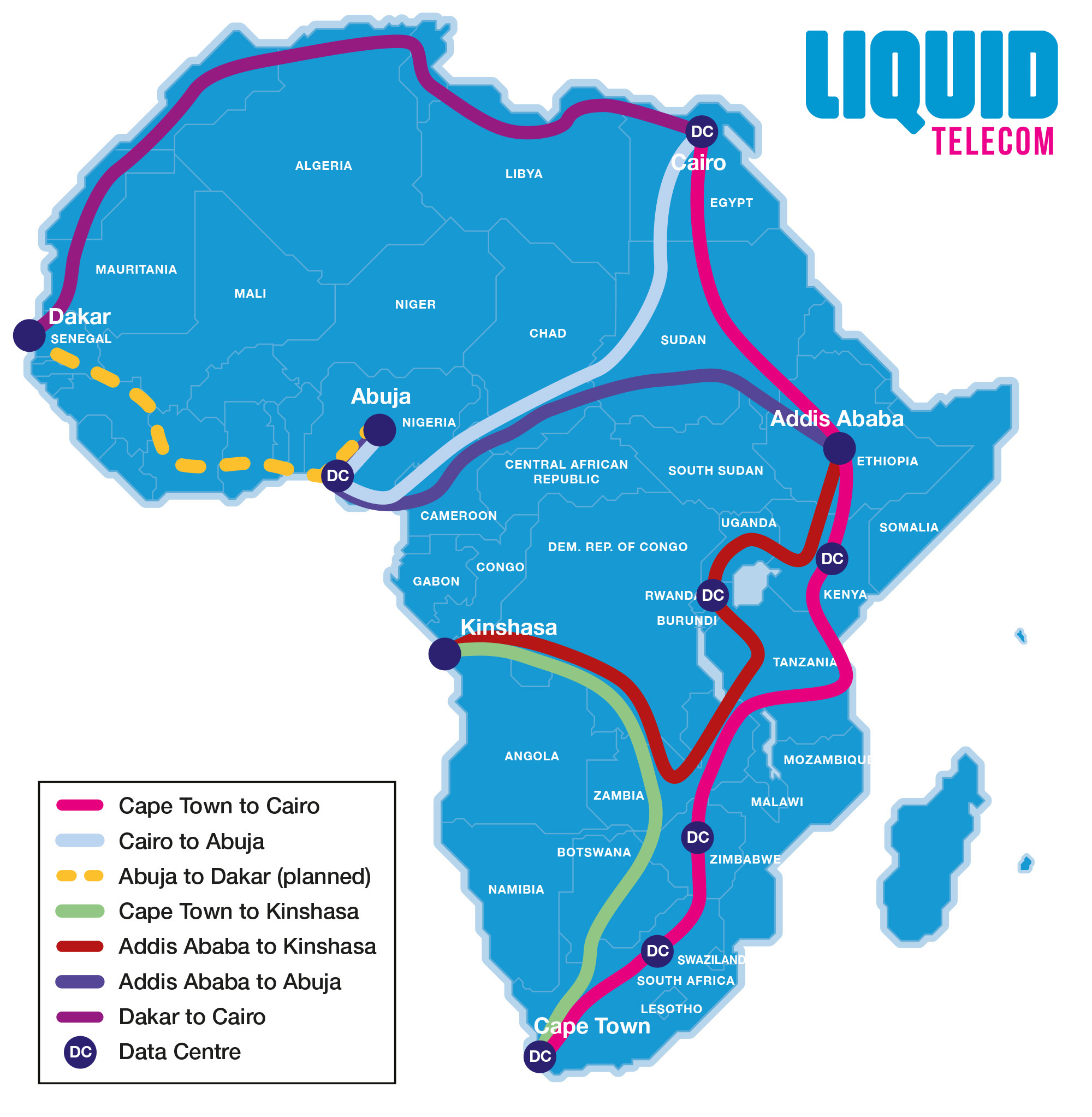 Liquid Telecom to invest 8bn EGP ($400m USD) in Egyptian network infrastructure and data centres.