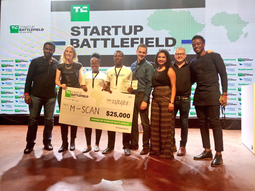 Mscan Takes Crown At The TechCrunch Startup BattleField Africa 2018