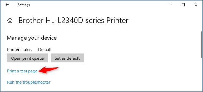 print a test page