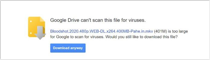 downloading from google drive