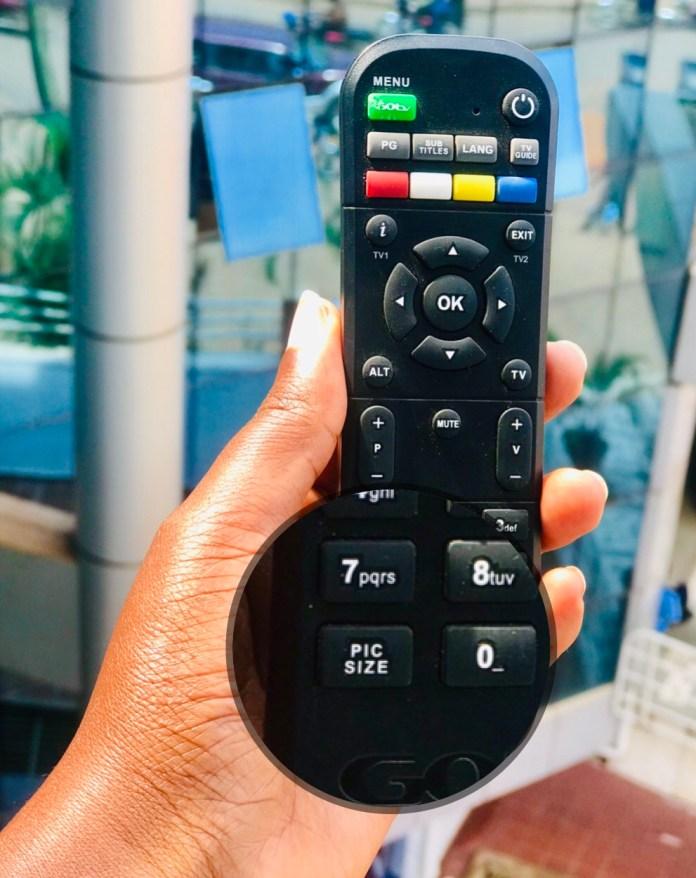 zoom in on go tv / Change aspect ratio