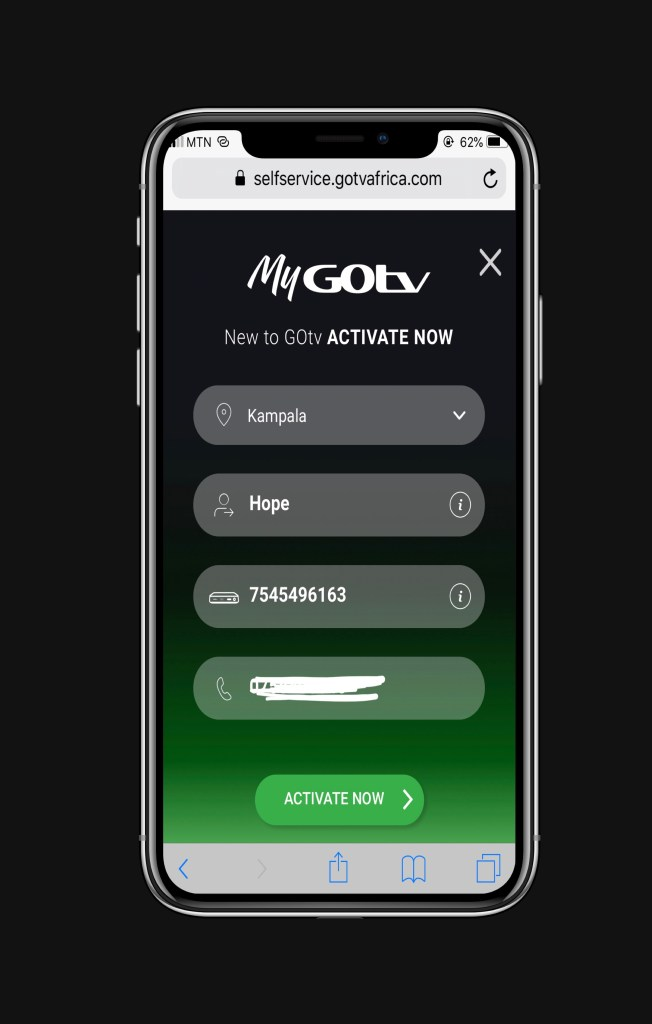 Activate New GOTV account