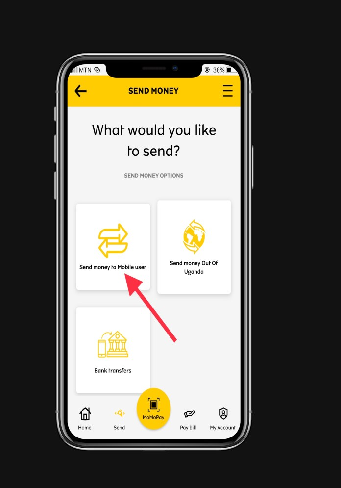 Send mobile money from MTN to Airtel