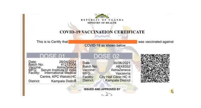 Digital COVID19 Vaccination Certificate