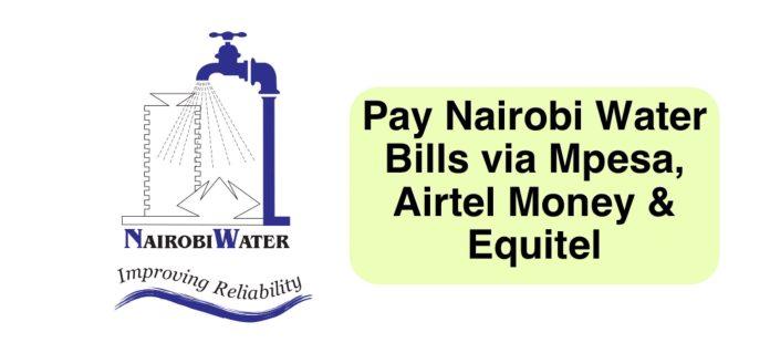 Pay Nairobi water bills