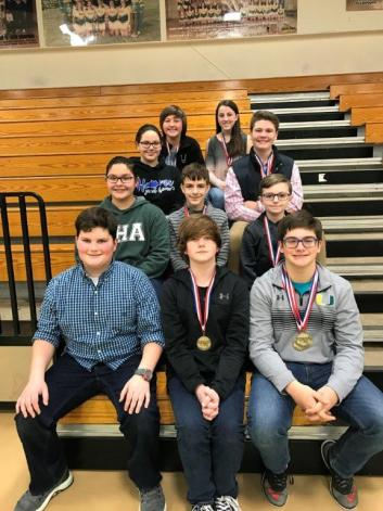 middle school region academic team