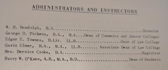 First catalog record at South Texas, 1950-1951