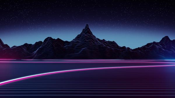 Animated Sunset Wallpaper Digital Art Highway 4k Desktop Wallpapers 3840x2160 Hd