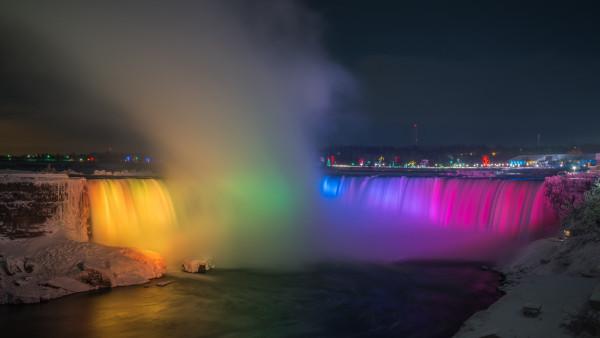 Niagara Falls Hd Wallpaper For Desktop Rainbow Over Niagara Falls Hd Wallpaper 4k Uhd Desktop
