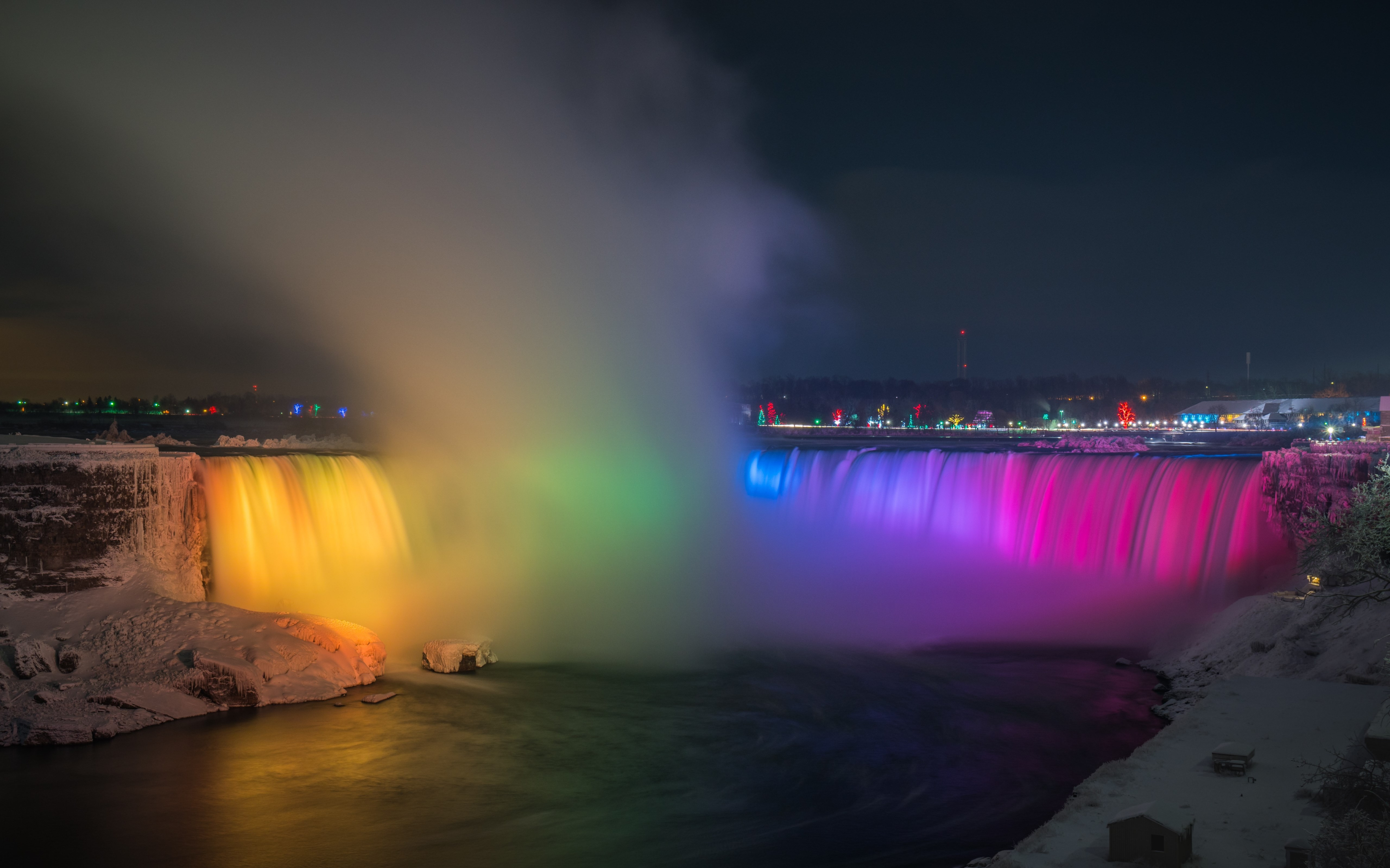 Free Desktop Wallpaper Niagara Falls Download Wallpaper Rainbow Over Niagara Falls 5120x3200