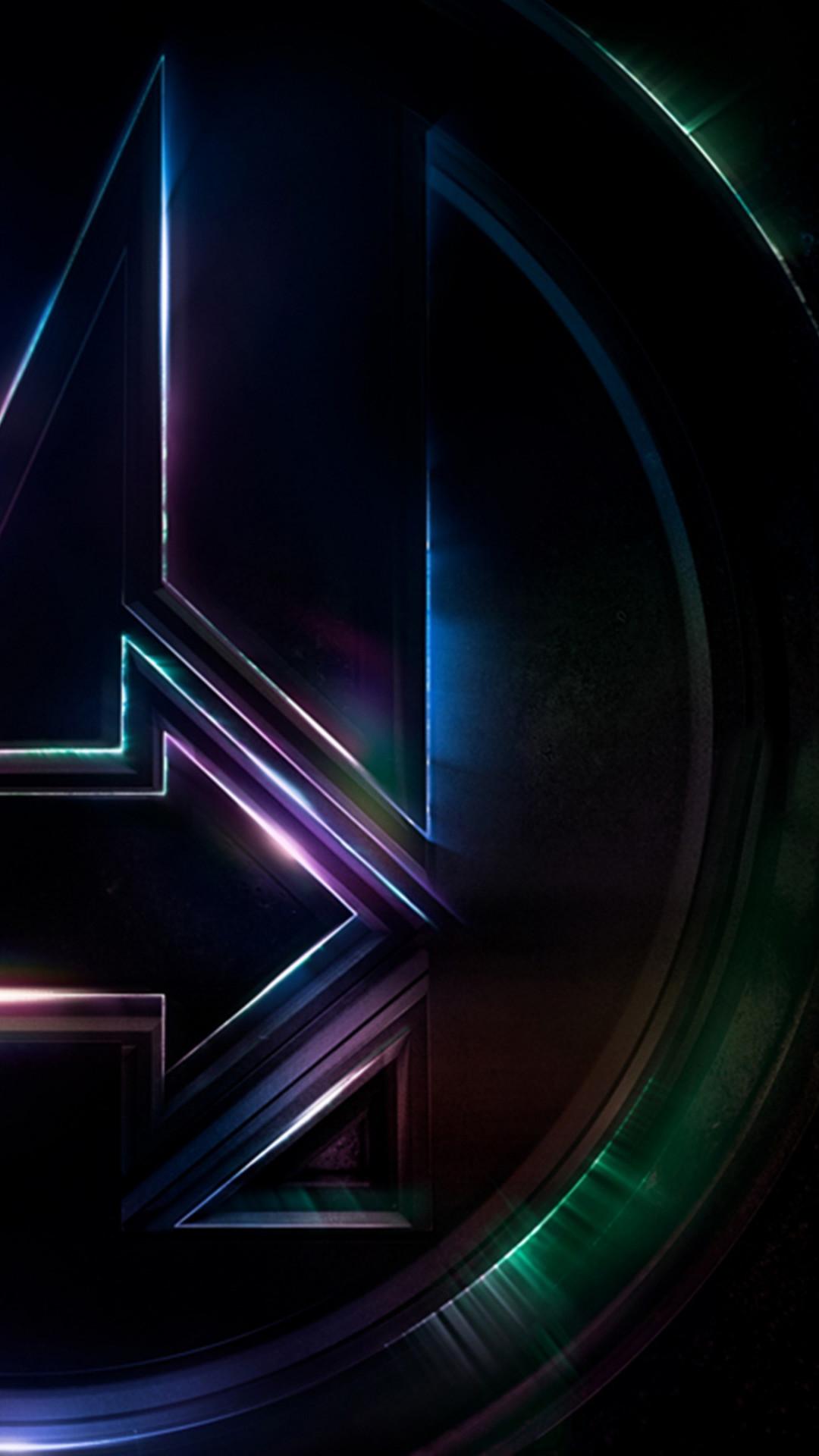 Wallpaper 4k Iphone X Download Wallpaper Logo Of Avengers Infinity War 1080x1920