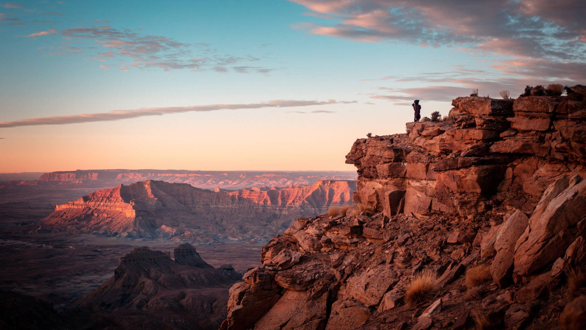 Download Wallpaper Canyon Sunset Desert Landscape