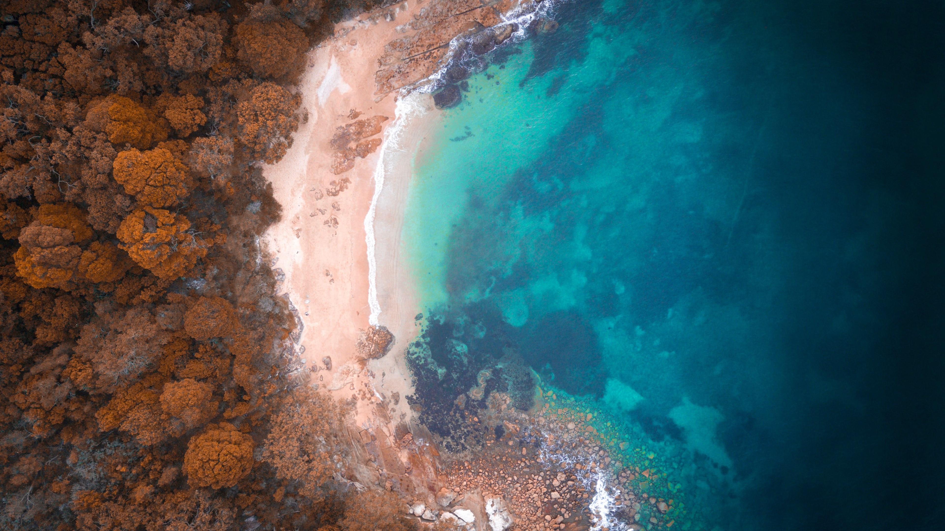 Beach Wallpaper Hd Download Wallpaper Reef Beach Australia 3840x2160