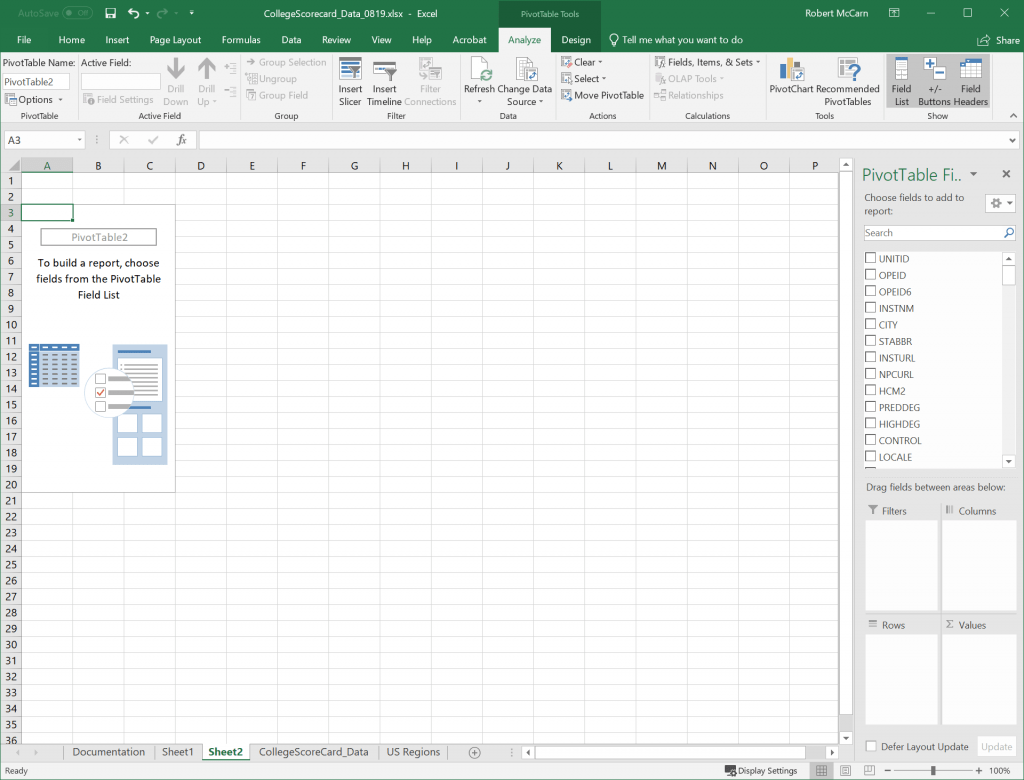 6 1 Creating Pivottables Excel For Decision Making