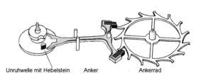 uhr mit ankermechanik