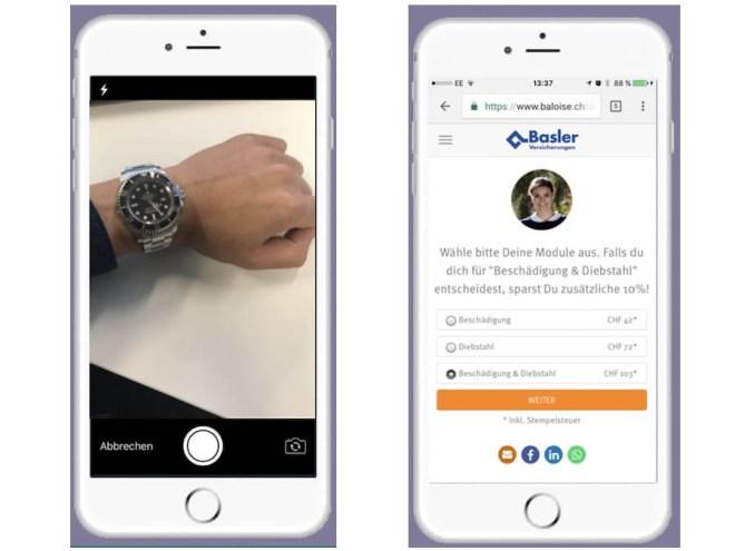 Uhrenversicherung per App