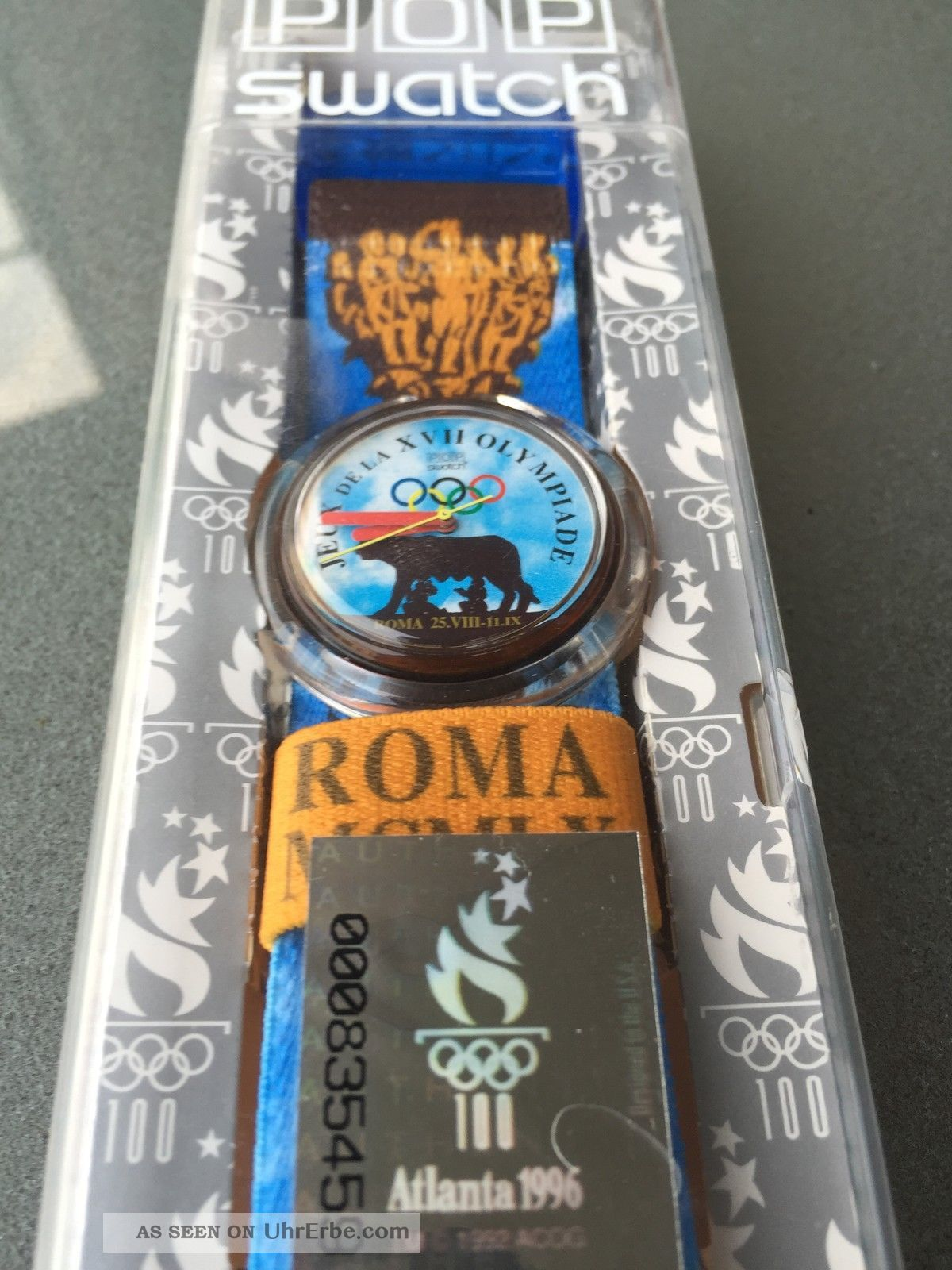 Pop Swatch Pmz 101 Roma 1960 Special Olympia 1996 Atlanta